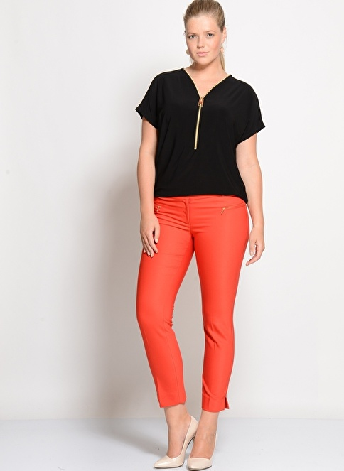Cotton Bar Pantolon Kırmızı